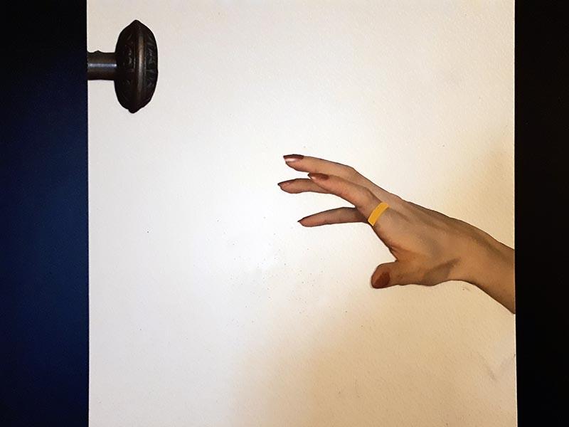 Exposición en la sala de la Escuela de Arte de Huesca